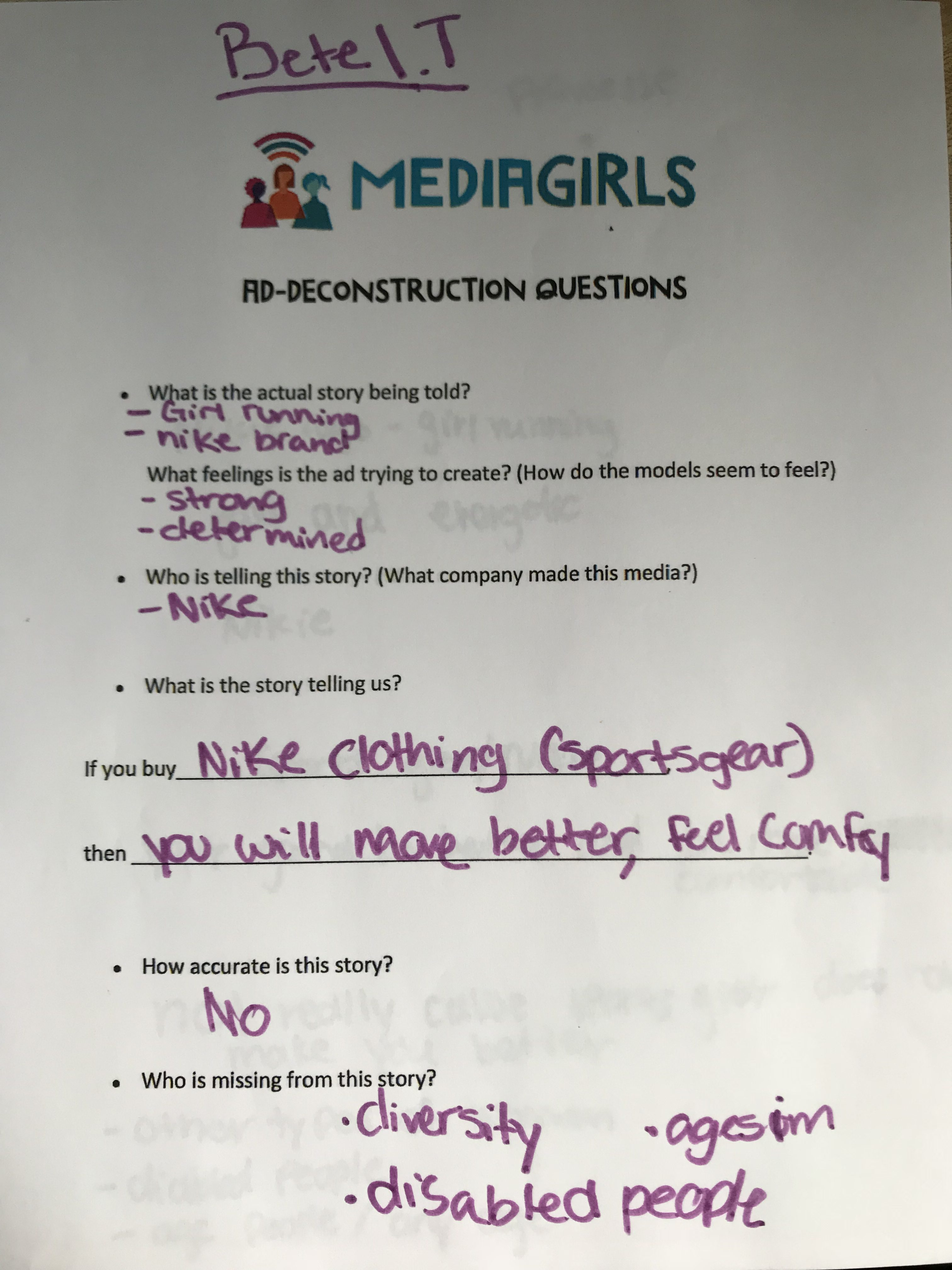MEDIAGIRLS @ PHA: Thinking Critically about Ad Messaging
